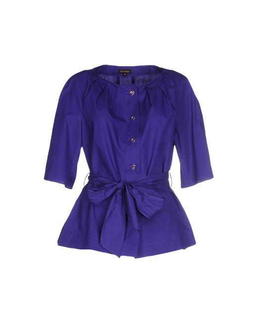 Escada Shirt in Purple (Dark purple) - Save 51% | Lyst