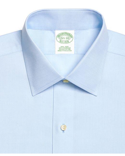 Brooks brothers non iron regent fit royal oxford dress for Royal purple mens dress shirts