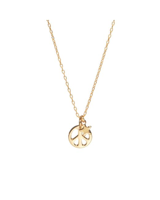 Bing Bang | Metallic Peace Out Necklace | Lyst