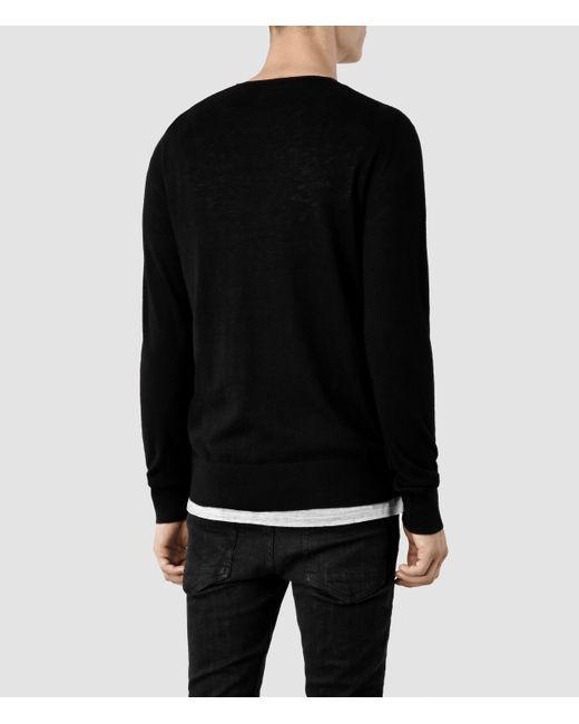 AllSaints | Black Riviera Crew Sweater Usa Usa for Men | Lyst
