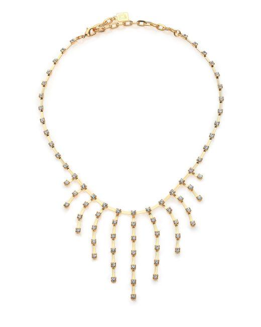 DANNIJO   Metallic Tinka Crystal Fringe Bib Necklace   Lyst
