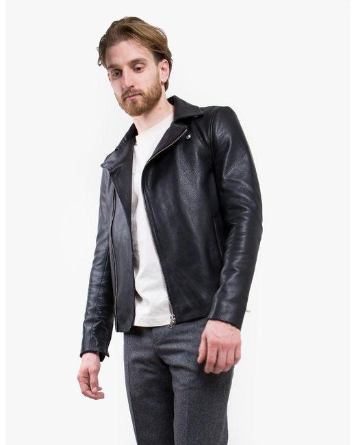 won hundred gilbert leather jacket in black for men lyst. Black Bedroom Furniture Sets. Home Design Ideas