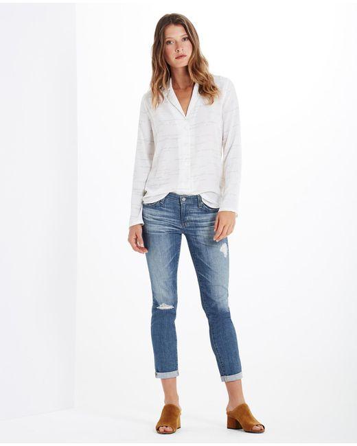 AG Jeans | Blue The Stilt Roll-up | Lyst