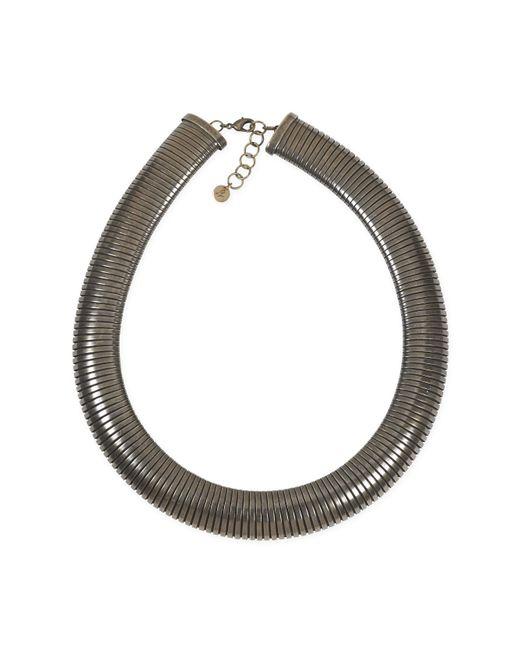 Agnes B. - Metallic Old Bronze Callie Necklace - Lyst