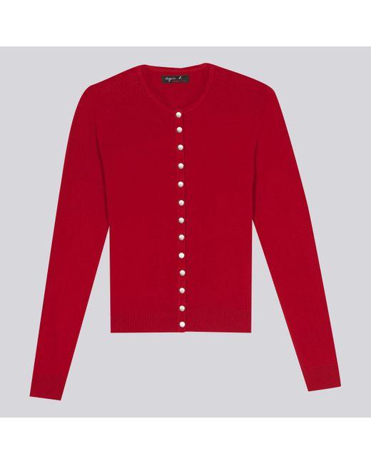 Agnes B. | Red Swing Cardigan | Lyst