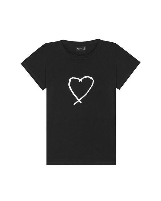 Agnes B. - Black Short Sleeves Sarajevo Heart T-shirt - Lyst