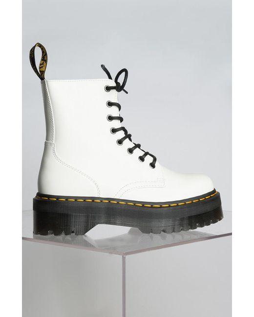 1326941b6e76 Lyst - Dr. Martens Jadon Platform Sole Combat Boot in White - Save 36%