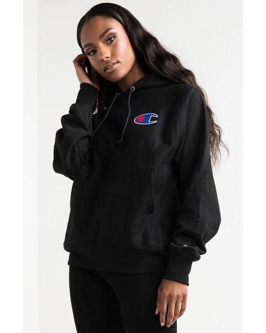 Champion - Black Reverse Weave Pullover Hoodie - Lyst