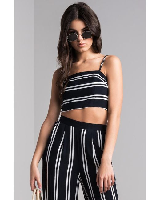 Akira - Blue Let's Have Fun Crop Top - Lyst