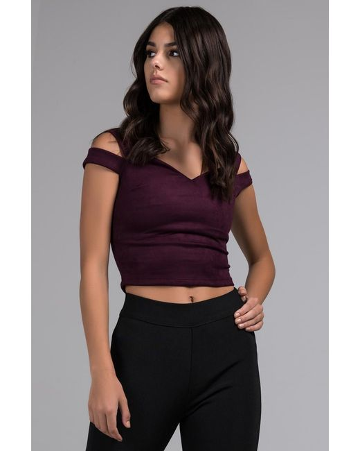 7b8cac878b674 Akira - Multicolor Out Of Order Off Shouder Crop Top - Lyst ...