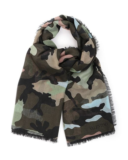 Valentino | Natural Camouflage Scarf for Men | Lyst