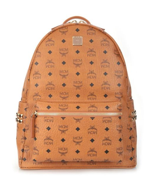 MCM   Brown Medium Stark Faux Leather Backpack for Men   Lyst