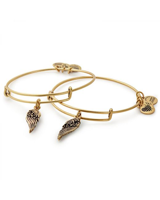 ALEX AND ANI - Multicolor Wings Set Of 2 Charm Bangles - Lyst