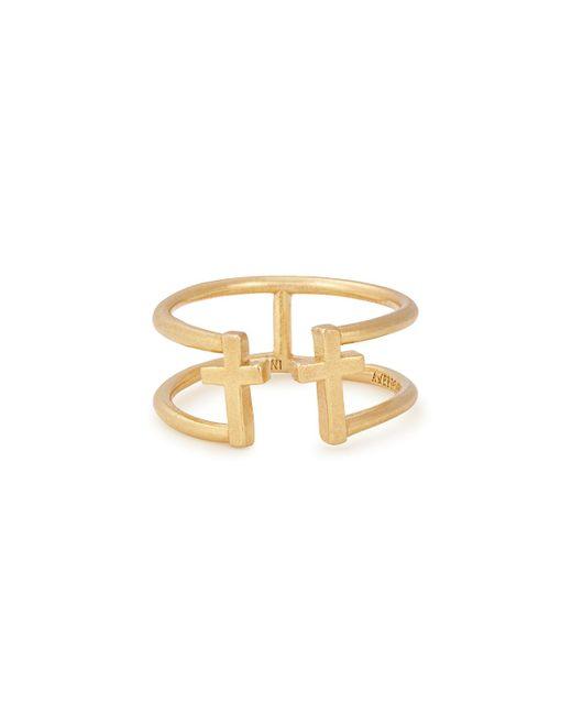 ALEX AND ANI - Metallic Cross Adjustable Ring - Lyst