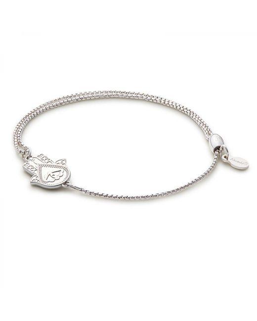 ALEX AND ANI - Metallic Hand Of Fatima Pull Chain Bracelet - Lyst