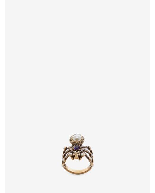Alexander McQueen - Metallic Spider Ring - Lyst