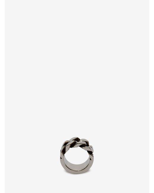 Alexander McQueen - Metallic Ring mit Kettengliedern for Men - Lyst
