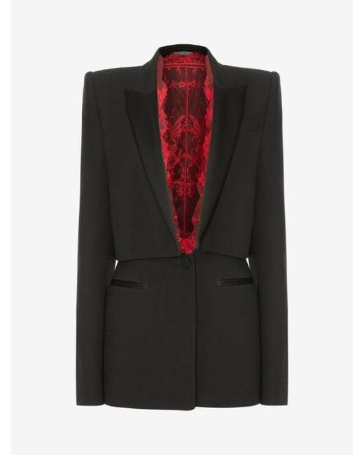 Alexander McQueen - Black Sarabande Lace Box Jacket - Lyst