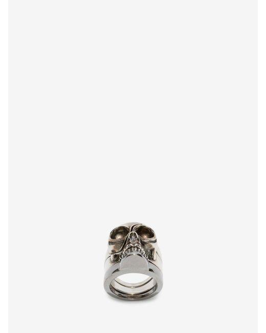 Alexander McQueen | Metallic Divided Skull Ring for Men | Lyst