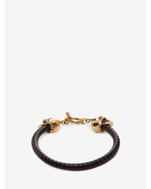Alexander McQueen | Black T-bar Skull Bracelet | Lyst