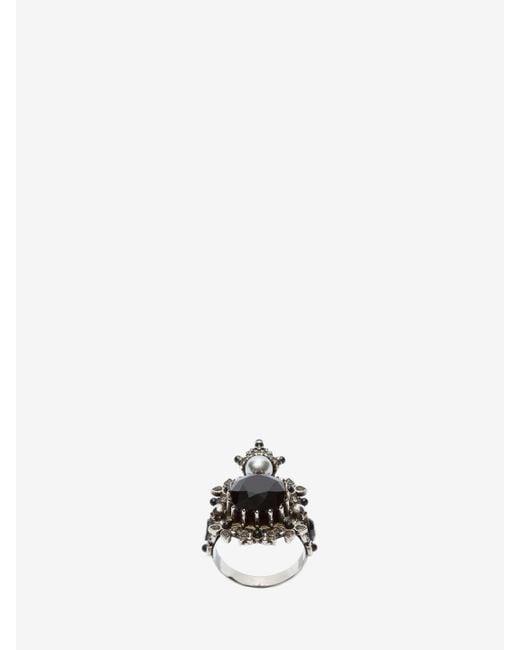 Alexander McQueen - Metallic Ring - Lyst