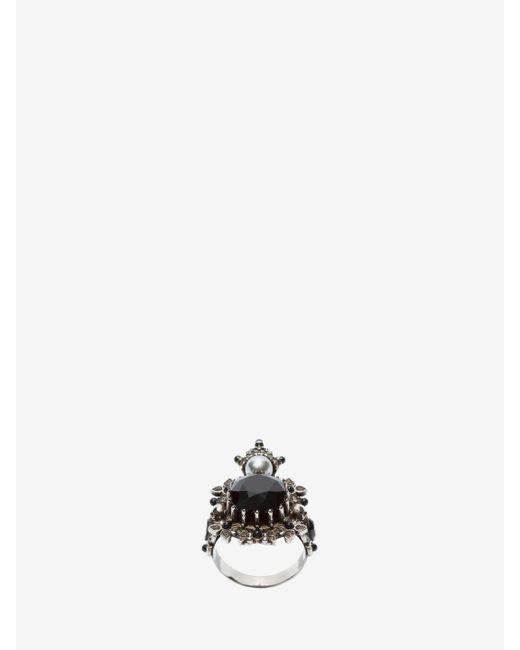 Alexander McQueen - Metallic Ring for Men - Lyst