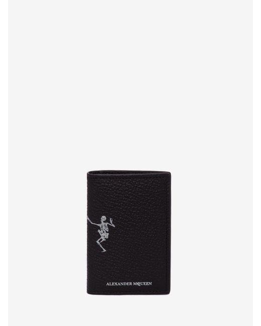 """Alexander McQueen - Black """"dancing Skeleton"""" Leather Pocket Organiser for Men - Lyst"""