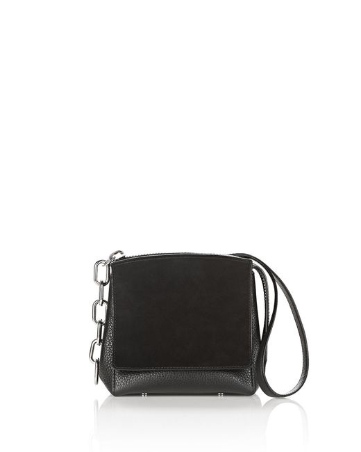 Alexander Wang | Attica Flap Marion In Pebbled Black | Lyst