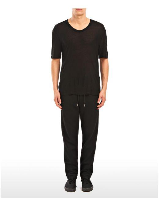 T By Alexander Wang | Black Slub Rayon Silk Low Necktee for Men | Lyst