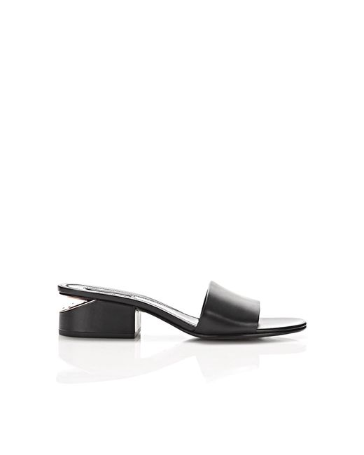 Alexander Wang - Black Lou Sandal With Rose Gold - Lyst