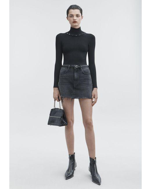 Alexander Wang - Black Bite Skirt - Lyst
