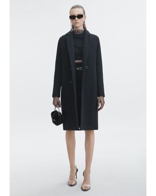 T By Alexander Wang - Gray Wool Car Coat - Lyst