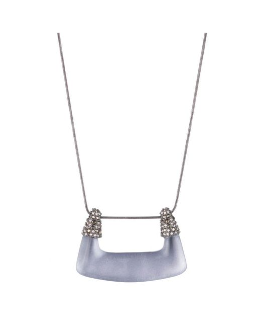 Alexis Bittar   Blue Buckle Shape Lucite Pendant Necklace You Might Also Like   Lyst