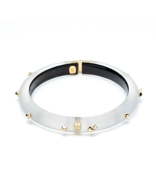Alexis Bittar - Gray Golden Studded Hinge Bracelet You Might Also Like - Lyst