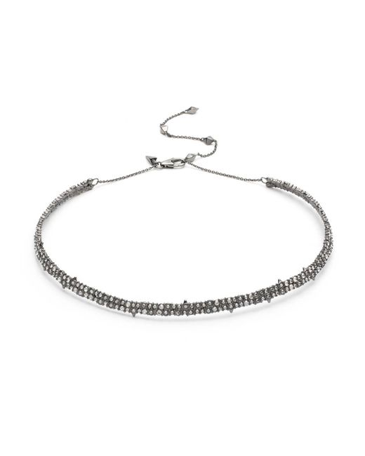 Alexis Bittar - White Crystal Encrusted Spike Accented Choker Necklace You Might Also Like - Lyst