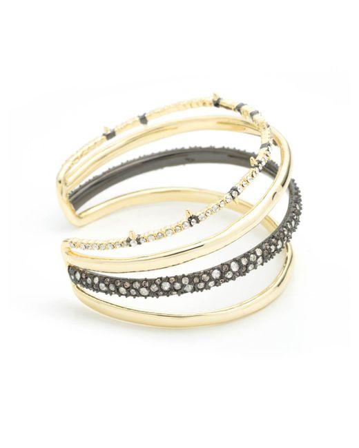 Alexis Bittar - Metallic Crystal Encrusted Orbiting Cuff Bracelet - Lyst