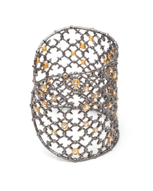 Alexis Bittar | Metallic Muse Dor Crystal Studded Spur Lace Cuff Bracelet You Might Also Like | Lyst