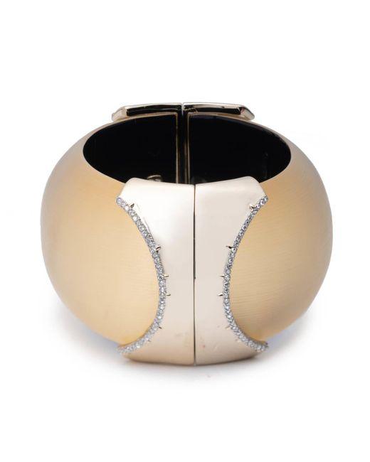Alexis Bittar - Metallic Large Dome Hinge Crystal Accent Bracelet - Lyst