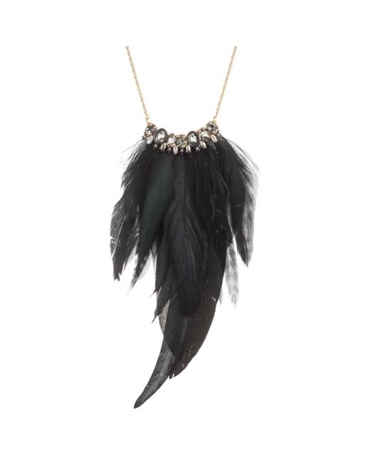 Alexis Bittar | Black Raven Feather Fan Crystal Bib Necklace You Might Also Like | Lyst