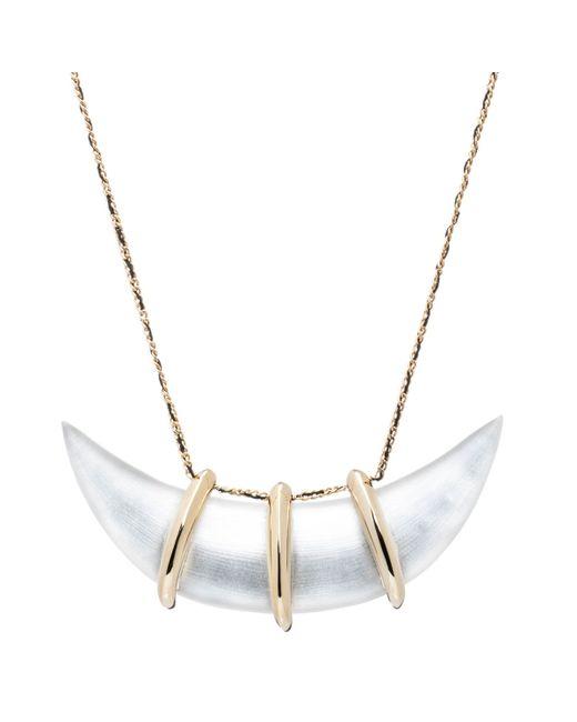 Alexis Bittar | Metallic Crystal-Studded Scalloped Bib Necklace | Lyst