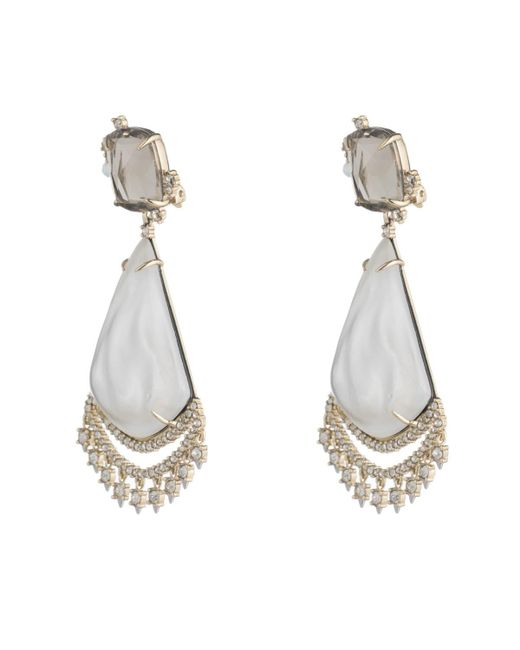 Alexis Bittar | Metallic Crystal Lace Chandelier Earring You Might Also Like | Lyst