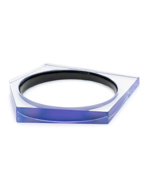 Alexis Bittar - Blue Asymmetrical Pentagon Bangle Bracelet You Might Also Like - Lyst