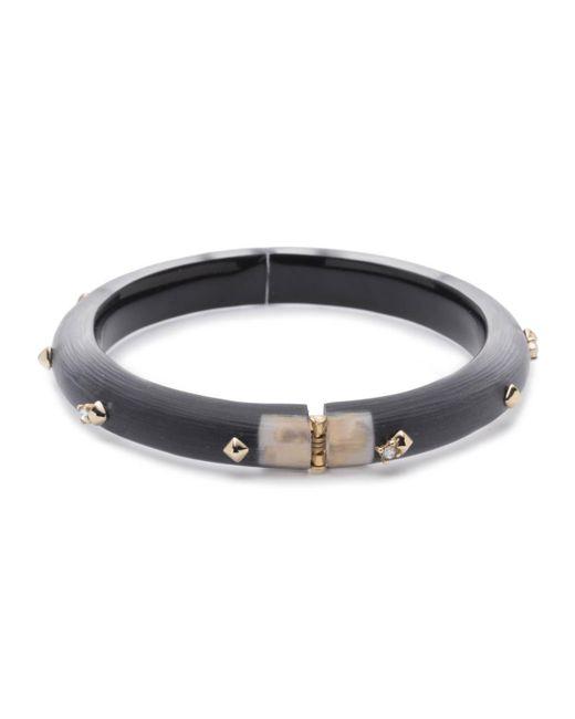 Alexis Bittar   Black Golden Studded Hinge Bracelet You Might Also Like   Lyst