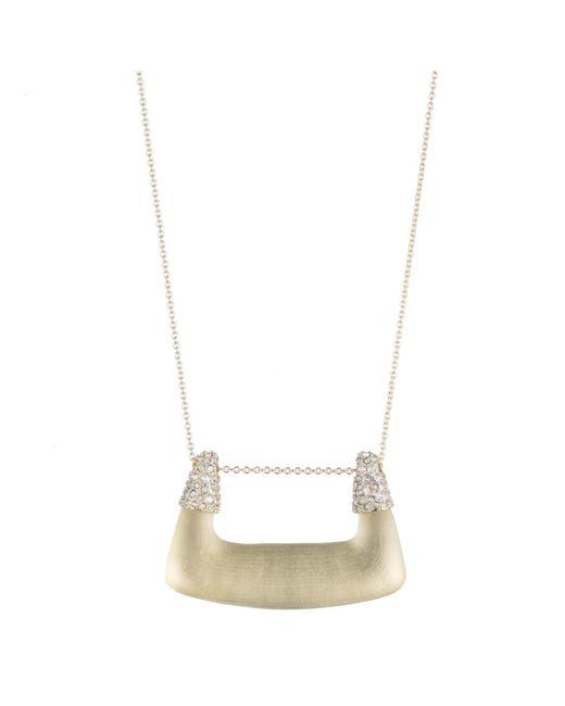Alexis Bittar - Metallic Buckle Shape Lucite Pendant Necklace - Lyst