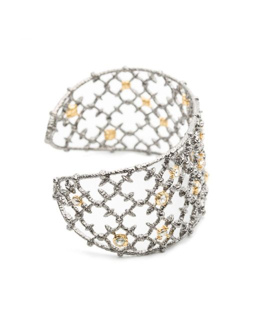 Alexis Bittar - Metallic Gunmetal Crystal Studded Spur Lace Cuff You Might Also Like - Lyst