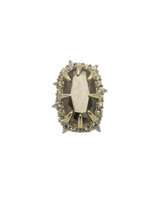 Alexis Bittar - Natural Two Tone Pyrite Stone Slide You Might Also Like - Lyst