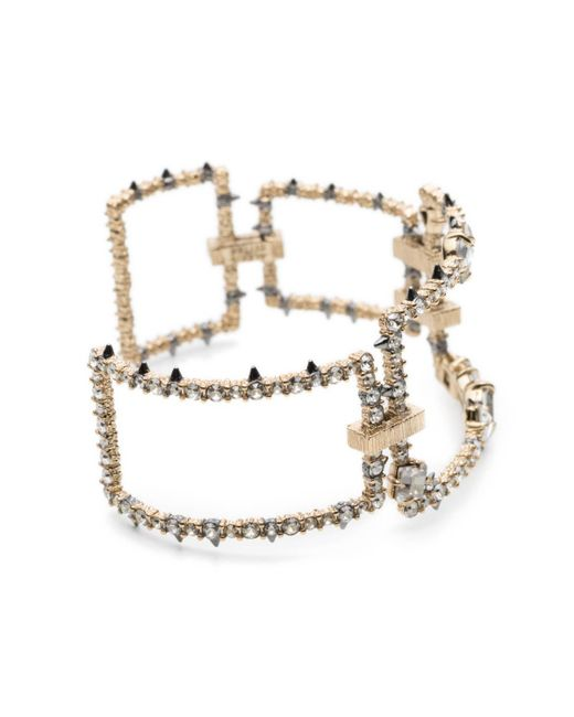 Alexis Bittar | Multicolor Crystal Encrusted Oversize Link Cuff Bracelet You Might Also Like | Lyst