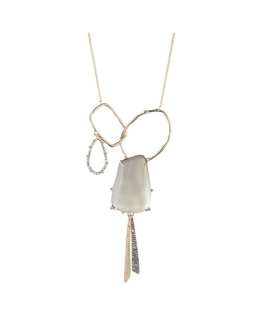 Alexis Bittar - Metallic Crystal Encrusted Organic Link Tassel Bib Necklace You Might Also Like - Lyst