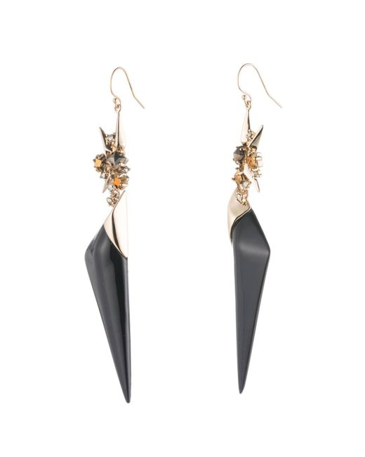 Alexis Bittar | Black Golden Studded Double Drop Wire Earring You Might Also Like | Lyst