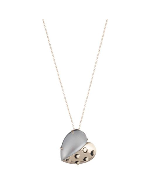 Alexis Bittar - Gray Petite Grater Heart Pendant Necklace You Might Also Like - Lyst
